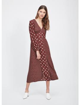 Chocolate Spot Midi Dress by Miss Selfridge