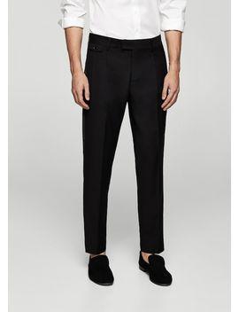 Satin Trim Tuxedo Trousers by Mango