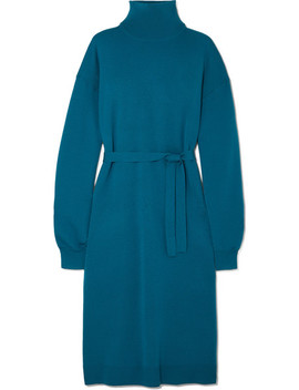 Merino Wool Turtleneck Midi Dress by Tibi