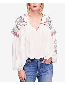 Rock It Tonight Embroidered Peasant Blouse by Free People