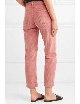 Helena Cotton Blend Corduroy Straight Leg Pants by Grlfrnd