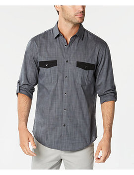 Men's Warren Contrast Pocket Woven Shirt, Created For Macy's by Alfani