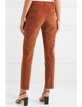 Cropped Stretch Cotton Corduroy Tapered Pants by Paul & Joe