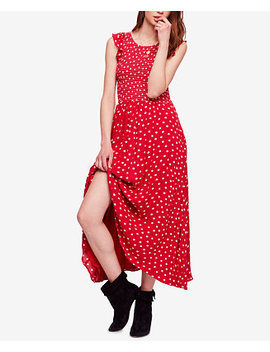 Polka Dot Cotton Midi Dress by Free People