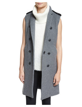 Ashton Tailored Wool Blend Vest, Heather Gray by Rag & Bone