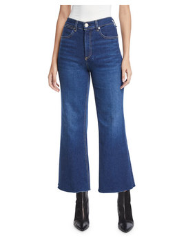 Justine High Rise Cropped Flare Leg Jeans by Rag & Bone/Jean