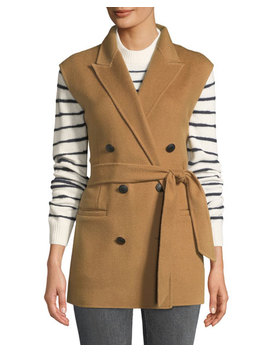 Pearson Belted Wool Double Breasted Vest by Rag & Bone