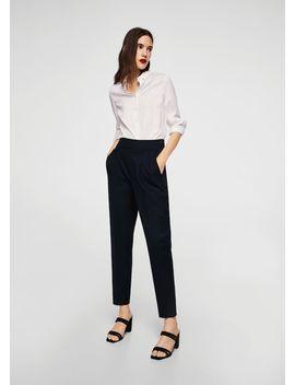 Pantaloni Dettaglio Pinces by Mango