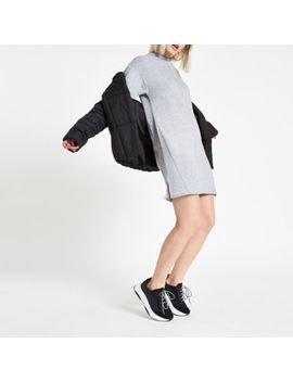 Grey Marl High Neck Sweater Dress by River Island