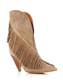 Women's Giliana Suede Fringe Western Booties by Sigerson Morrison