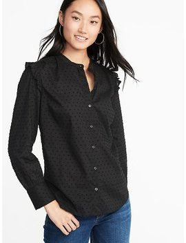 Ruffle Trim Clip Dot Top For Women by Old Navy