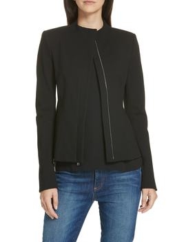 Sculpted Twill Knit Jacket by Theory