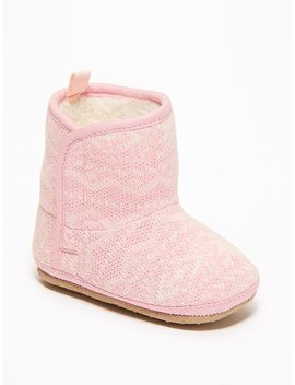 Fair Isle Sweater Knit Booties For Baby by Old Navy