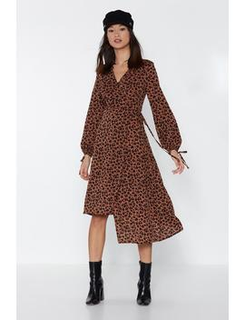 Copycat Leopard Wrap Dress by Nasty Gal