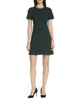 Easy Snap Textured Dress by Theory