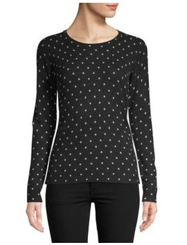 Petite Chelsea Dot Cashmere Sweater by Lord & Taylor