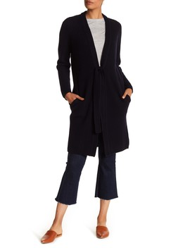 Wool & Cashmere Blend Front Tie Cardigan by Vince