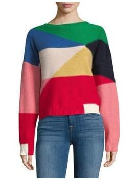 Megu Colourblock Wool & Cashmere Sweater by Joie
