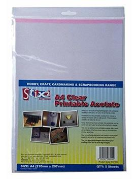 Stix2 Clear Printable Acetate Sheets, A4, Pack Of 5 by Stix2