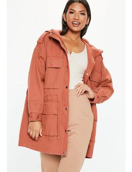 Rust Oversized Utility Jacket by Missguided