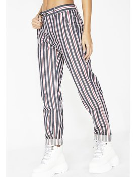 Striped Denim Pants by Pleasures
