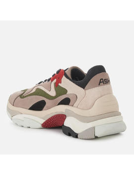 Ash Women's Addict Chunky Runner Style Trainers   Grey/Off White/Red by The Hut