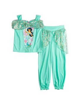 Disney's Jasmine Girls 4 8 Top & Bottoms Dress Up Pajama Set by Kohl's
