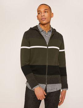 Multi Stripe Cotton Sweater Hoodie by Armani Exchange