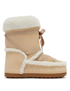 New Tignes Suede And Shearling Boots by Bogner
