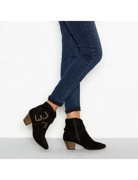Nine By Savannah Miller   Black 'sarant' Block Heel Three Buckle Ankle Boots by Nine By Savannah Miller