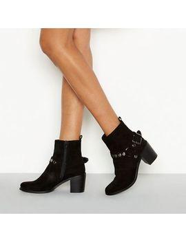 Nine By Savannah Miller   Black 'stirup' Stud Buckle Ankle Boot by Nine By Savannah Miller