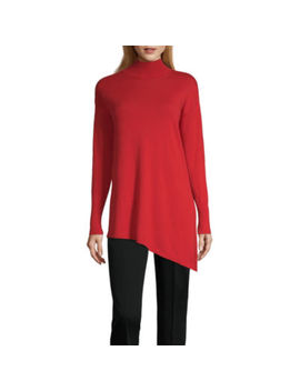 Worthington Long Sleeve Mock Neck Pullover Sweater by Worthington