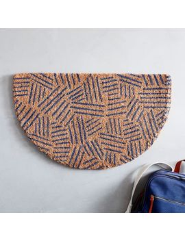 Tossed Dash Semi Circle Doormat by West Elm