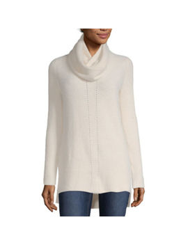 Liz Claiborne Long Sleeve V Neck Pullover Sweater by Liz Claiborne