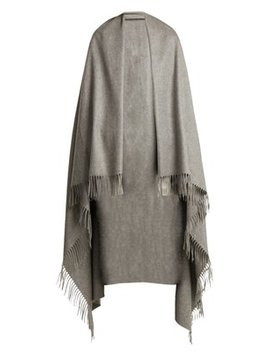 Fringed Cashmere Blanket Scarf by Max Mara