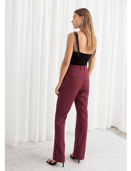 Kick Flare Pinstripe Trousers by & Other Stories
