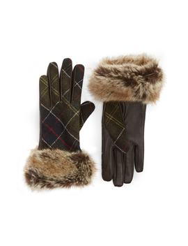 Linton Leather & Wool Gloves by Barbour