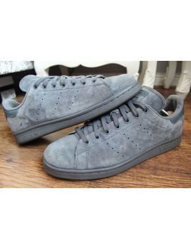 Men's Adidas Stan Smith Suede Grey Trainers Size Uk 11 Great Condition by Ebay Seller