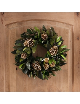 Dried Gold Pine Cone Eucalyptus Wreath by Kirkland's