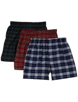 Excell Men's 3 Pack Assorted Plaids Woven Boxer Shorts Underwear by Sears