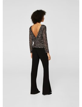 Blouse Tulle Sequins by Mango