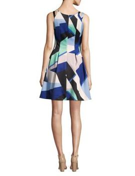 Double Strap Scuba Fit And Flare Dress by Vince Camuto