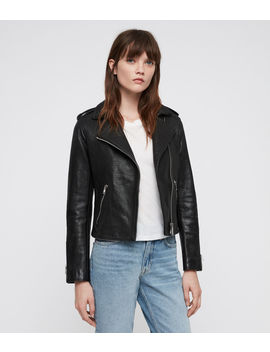 Hadi Leather Biker Jacket by Allsaints