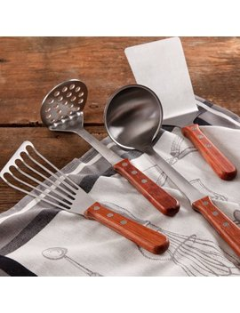 The Pioneer Woman Cowboy Rustic 4 Piece Kitchen Tool Set With Rosewood Handle by The Pioneer Woman