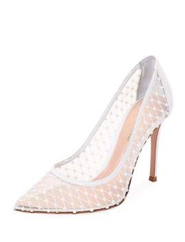 Crystal Mesh Pointed Pumps by Gianvito Rossi