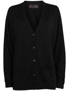 Fat Face Copper & Black Ivy Oversized Cardi, True Black by Fat Face