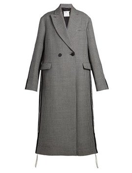 Oversized Double Breasted Houndstooth Coat by Stella Mc Cartney