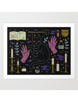 Spooky Horoscopes: Leo Art Print by