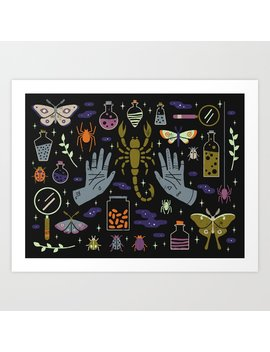 Spooky Horoscopes: Scorpio Art Print by