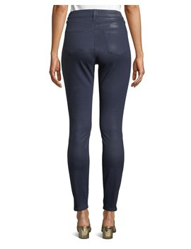 Marguerite Coated Cotton Denim High Rise Skinny Jeans by L'agence